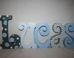 coral navy and mint nursery baby letters wall letters