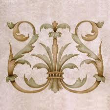 stencils designer stencil acanthus crown a royal design studio