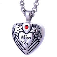 necklace to put ashes in titanium always in heart pendants missing you necklace cremation