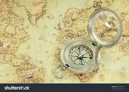 Old World Map Compass On Old World Map Stock Photo 322649417 Shutterstock