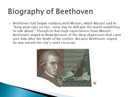 beethoven biography in brief beethoven and his 7th symphony ppt download