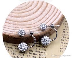 sided stud earrings online cheap korean side earring fashion jewelry shamballa