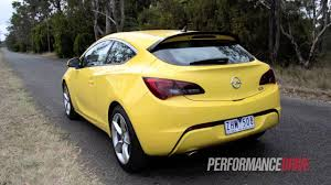 opel yellow 2012 opel astra gtc sport engine sound and 0 100km h youtube