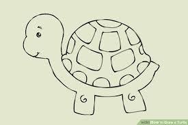 4 ways draw turtle wikihow