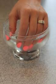 how to dry nail polish quickly submerge wet nails in cold water