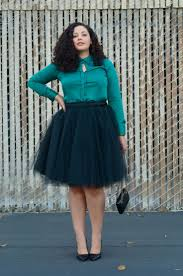Plus Size Urban Clothes 5 Ways To Wear A Tulle Skirt For Plus Size Rita And Phill