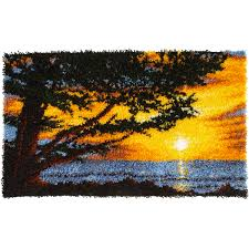 caron wonderart latch hook kit monterey sunsetcaron wonderart