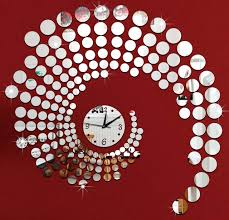 Large Mirrored Wall Clock Aliexpress Com Buy 3d Circle Mirror Wall Stickers Large