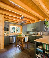 Pine Cabinets Kitchen Pine Cabinets Kitchen Rustic With Tile Flooring Stainless Steel