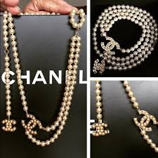 pearl size necklace images Chanel chanel pearl necklace belt from oksana 39 s closet on poshmark jpg