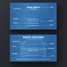 Business Card Layout Psd Car Blueprint Business Card Template Psd File Free Download