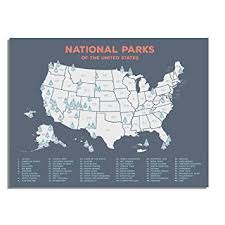 map us national parks us national parks map black usa map poster map of