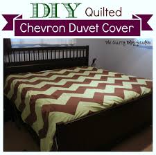 Duvet Diy How To Make A King Size Quilted Chevron Duvet Cover The Crafty