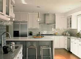 Neutral Colored Kitchens - impressive white shaker cabinets convention san francisco