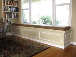 corner bench storage seating built in bookshelf and bench seat