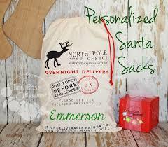 personalized santa sack personalized santa sack custom name christmas gift bag