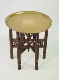 Brass Tray Table Berber Benares Brass Tray Top Folding Coffee Table Antiques Atlas