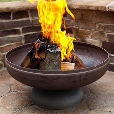Burning Pit Of Fire - shop ohio flame 24 in w natural steel wood burning fire pit at