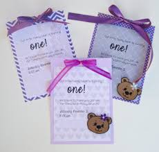 laura u0027s plans diy first birthday party invitations teddy bear theme