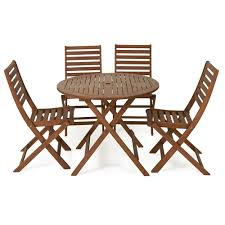 Garden Table Sets Amusing Wooden Patio Table And Chairs Furniture Good Looking For