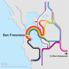 san francisco map california san francisco rainbow transit map california rail map