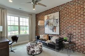 brick wall design design ideas contemporary home office with brick wall and