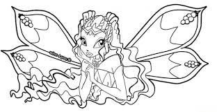 kids 7 winx club coloring pages wings club coloring