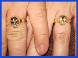 Skull Wedding Rings by Well We Got Married And We Exchanged Our Skull Wedding Rings