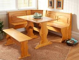 Dining Bench Table Set Amazon Com Dining Nook Solid Pine Breakfast Set In Natural Finish