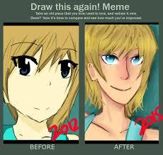 Anime Girl Meme - improvement meme random anime girl by shiro ritto on deviantart
