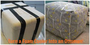 Ottoman Cooler Soft Sturdy And Sweet How To Turn A Foam Cooler Into An Ottoman