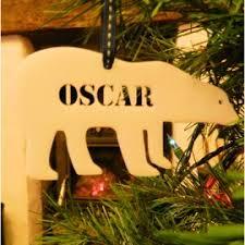 Polar Bear Christmas Decoration Uk by Personalised Christmas Tree Decorations