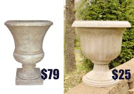 Outdoor Vase Thrifty Diy Knockoff Planter Living Rich On Lessliving Rich On Less
