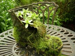 recycling old shoes for garden art thrifty nw mom