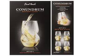 final touch conundrum red and white unique wine aerating glasses