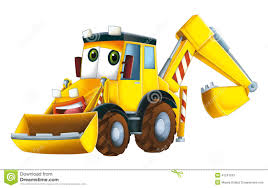 cartoon excavator royalty free stock photo business card