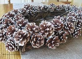 pine cone wreath pine cone snowy wreath