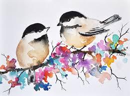 watercolor tutorial chickadee original watercolor bird painting 6x8 inch chickadee illustration