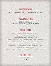 Buffet Menu For Wedding by Testa Catering Weddings