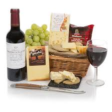 wine and cheese basket wine cheese food hers and gift baskets with cheese