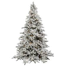 7 5 flocked faux utica fir tree with white lights