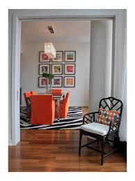 Orange Dining Room Dining Slipcovers Contemporary Houzz