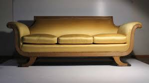 Victorian Style Sofas For Sale by 20th Century Duncan Phyfe Empire Neoclassical Victorian Style Sofa