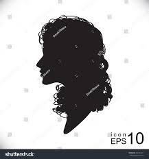 female head long curly hair woman stock vector 402731671