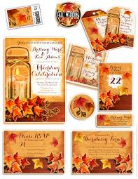 jar wedding invitations rustic fall jar wedding invitations vintage wedding