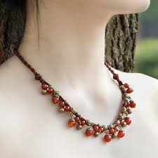 ethnic necklace design images Buy 4 colors original design chalcedony necklace jpg