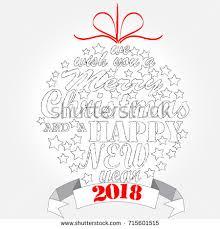 merry happy new year stock vector 715601515