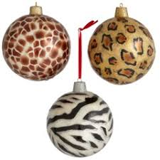 the animal print ornaments what is your chirstmas tree without