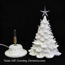 antique winter white ceramic christmas tree 16 inch tall clear