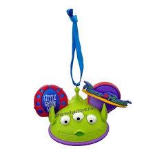 wdw store disney ear hat ornament toy story alien